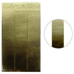 Металлизированные наклейки для ногтей TUFI Profi GD-017