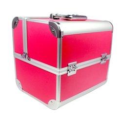 Чемодан для мастера YRE розовый в металле
