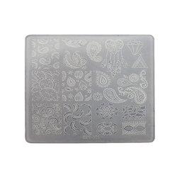Пластина для стемпинга квадратная YRE XY-Т23  пластик, белый