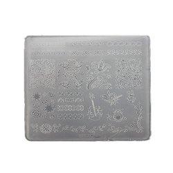 Пластина для стемпинга квадратная YRE XY-Т27  пластик, белый