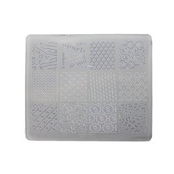 Пластина для стемпинга квадратная YRE XY-Т28  пластик, белый