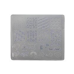 Пластина для стемпинга квадратная YRE XY-Т29  пластик, белый