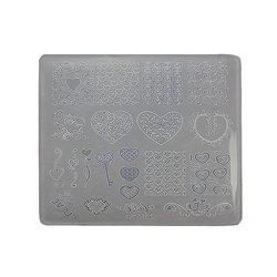 Пластина для стемпинга квадратная YRE XY-Т30  пластик, белый