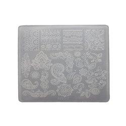 Пластина для стемпинга квадратная YRE XY-Т32  пластик, белый