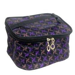 Косметичка-чемоданчик - черный звезды фиолетовые маленький (CR-466)