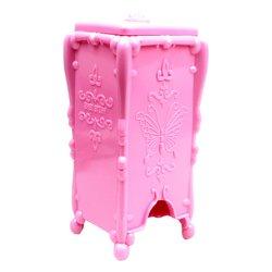 Подставка для безворсовых салфеток розовая YRE бабочки (G55)