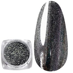 Зеркальная пудра-голографик - серебро