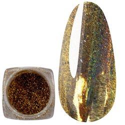 Зеркальная пудра-голографик - золото