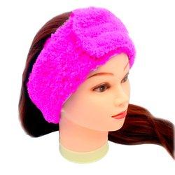 Повязка для волос Украина, махра - розовый, 1 шт