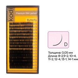 Ресницы Kodi изгиб D 0.05 16 рядов: 8-2,9-2,10-4,11-2,12-4,13-1,14-1 (20032920)