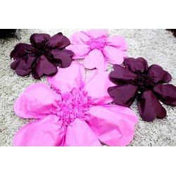 Большой 3D цветок тишью диаметр 55 см (цвет на выбор)