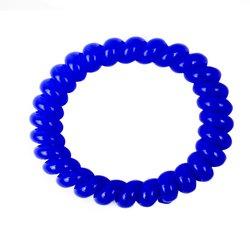 Резинка завиток большая глянцевая - синяя