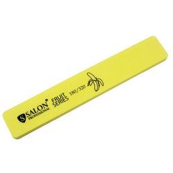 Шлифовщик Salon Professional Fruit Series 180/320, прямоугольный широкий (желтый)