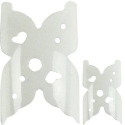 Типсы YRE French - белый бабочка, 100 шт