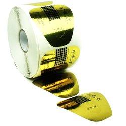 Форма для наращивания ногтей YRE - золотой, 500 шт