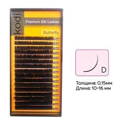 Ресницы Kodi изгиб D 0.15 16 рядов: 10-16 (20033026)