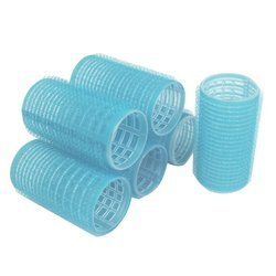 Бигуди липучки YRE 35 мм голубой 6 шт