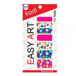 Наклейки для дизайна ногтей Easy Art E03