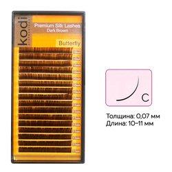 Ресницы Kodi темно-коричневые изгиб C 0.07 16 рядов: 10-11 мм (20033170)