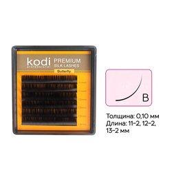 Ресницы Kodi изгиб В 0,1 6 рядов 11-2, 12-2, 13-2 мм (20033446)