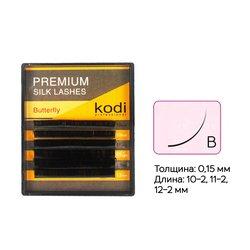 Ресницы Kodi изгиб В 0.15 6 рядов 10-2, 11-2, 12-2 мм (20033477)
