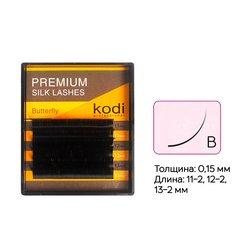 Ресницы Kodi изгиб В 0,15 6 рядов  11-2, 12-2, 13-2 мм (20033484)
