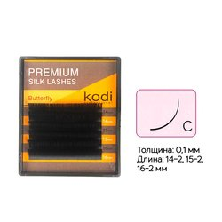 Ресницы Kodi изгиб С 0,10 6 рядов 14-2, 15-2, 16-2 мм (20033606)