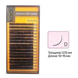 Ресницы Kodi изгиб D 0.15 16 рядов: 10-15 (20033057)