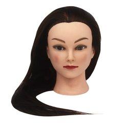 Учебная голова для парикмахера YRE Girl коричневый 60 см