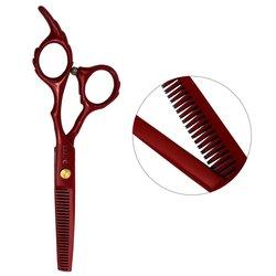 Филировочные ножницы для стрижки ESTET красные 6.0