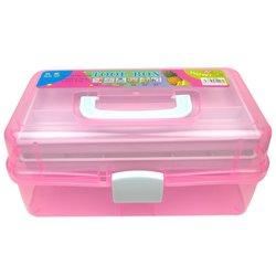 Контейнер для хранения инструментов YRE раскладной,  большой розовый