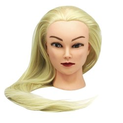 Учебная голова для парикмахера YRE Girl светлый блонд 60 см