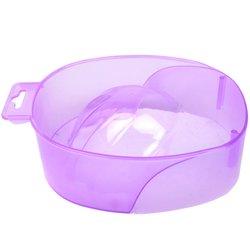 Ванночка для маникюра YRE, сиреневый прозрачный