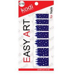 Наклейки для дизайна негтей Easy Art E19
