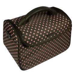 Сумка (чемодан) для мастера - оливковый в розовый горох (7844)