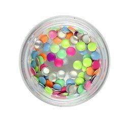 Заклепки металлические для ногтей в баночке - цветные