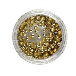 Заклепки металлические для ногтей в баночке - золото