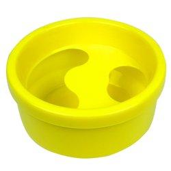 Ванночка для маникюра круглая, желтый