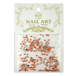 Заклепки металлические для ногтей - оранжевый
