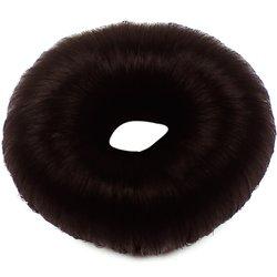 Валик (бублик) - темно-коричневый, искусственный волос, средний