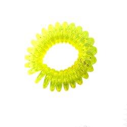 Резинка пружинка маленькая прозрачная - желтая