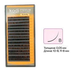 Ресницы Kodi изгиб B 0,05 16 рядов: 10-8, 11-8 мм (20042226)