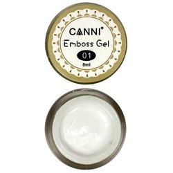 Гель-паста CANNI Emboss Gel №01 белая, 8 мл