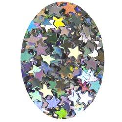 Декор блестка звездочка - серебро голографик, 2,6 мм