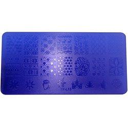 Пластина-трафарет для стемпинга YRE XY-L13 пластик, фиолетовый