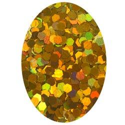 Блестка шестиугольник - золото голографик, 1,6 мм