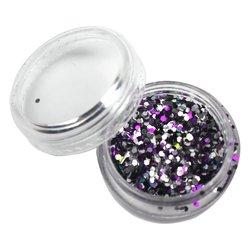 Декор брокат серебро-фиолетово-черный