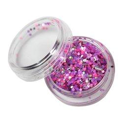 Декор брокат фиолетовый-розовый