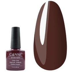 Гель-лак Canni №124 - коричнево-вишневий, 7,3 мл