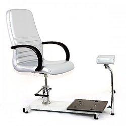 Педикюрное кресло Jetta с подножкой, серебристый (8915002 SLB)
